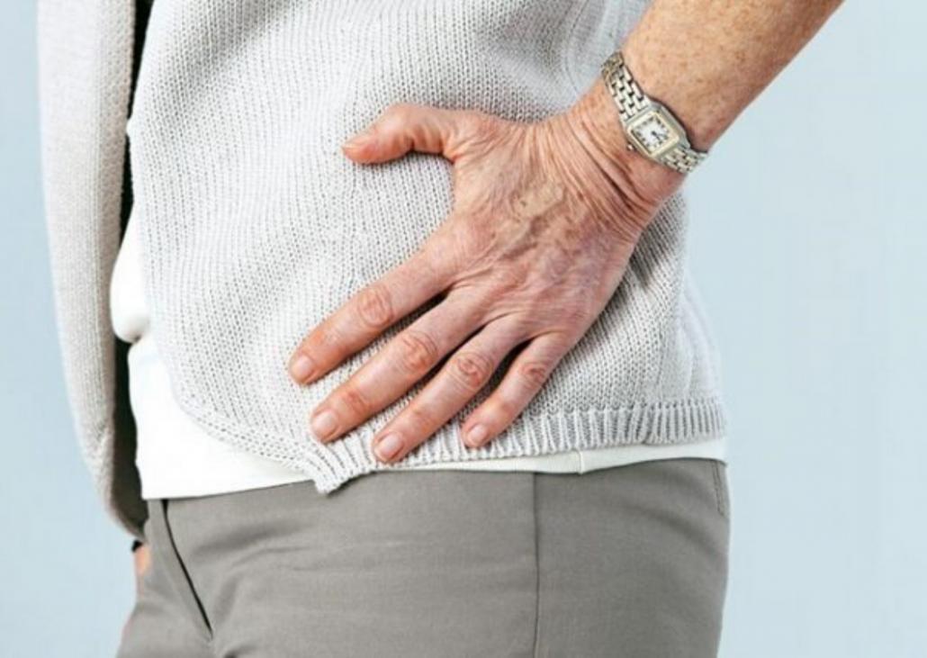 csípőfájás, amely kiterjed a csípőre