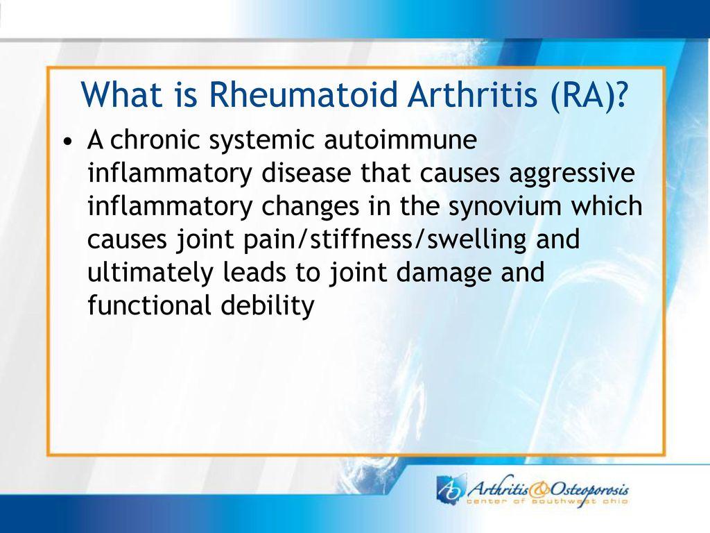 Rheumatoid Arthritis (AR), azaz az ízületi gyulladás - ppt letölteni